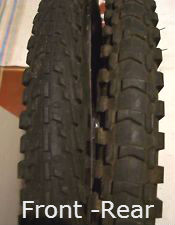 Front and Rear specific Tires