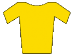 The yellow Jersey Awarded to the tour de France overall winner